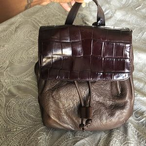 Chocolate Brown Apostrophe Backpack